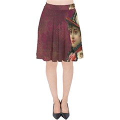 Vintage Edwardian Scrapbook Velvet High Waist Skirt