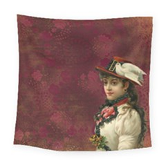 Vintage Edwardian Scrapbook Square Tapestry (large)
