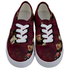 Vintage Edwardian Scrapbook Kids  Classic Low Top Sneakers