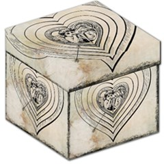 Heart Drawing Angel Vintage Storage Stool 12