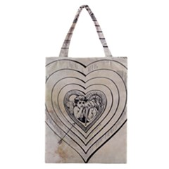 Heart Drawing Angel Vintage Classic Tote Bag