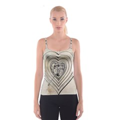 Heart Drawing Angel Vintage Spaghetti Strap Top