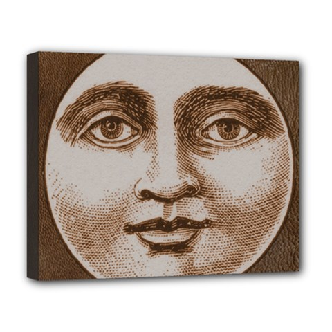 Moon Face Vintage Design Sepia Deluxe Canvas 20  X 16