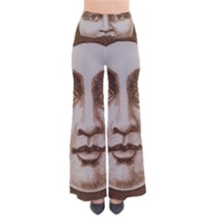 Moon Face Vintage Design Sepia Pants