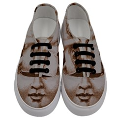 Moon Face Vintage Design Sepia Men s Classic Low Top Sneakers