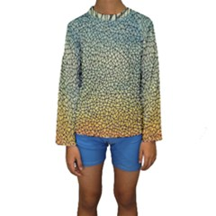 Background Cubism Mosaic Vintage Kids  Long Sleeve Swimwear