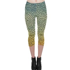 Background Cubism Mosaic Vintage Capri Leggings