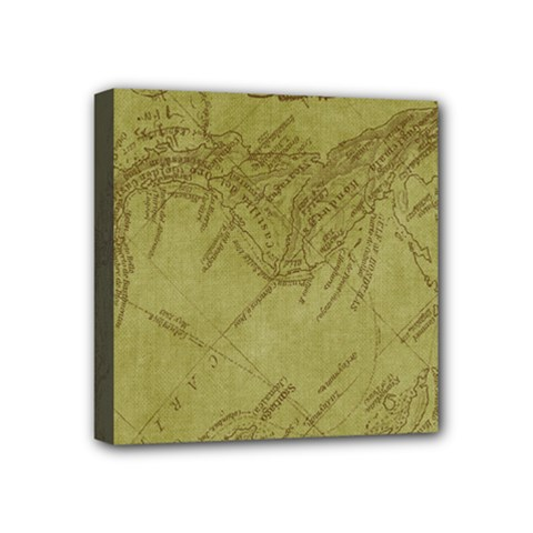 Vintage Map Background Paper Mini Canvas 4  X 4