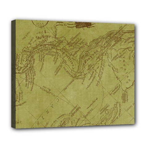Vintage Map Background Paper Deluxe Canvas 24  X 20