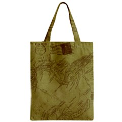 Vintage Map Background Paper Zipper Classic Tote Bag