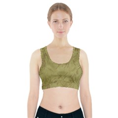 Vintage Map Background Paper Sports Bra With Pocket