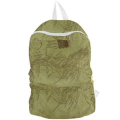 Vintage Map Background Paper Foldable Lightweight Backpack