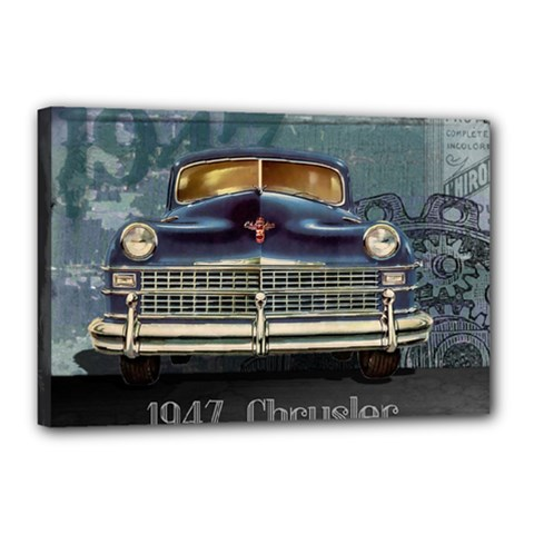 Vintage Car Automobile Canvas 18  X 12
