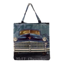Vintage Car Automobile Grocery Tote Bag
