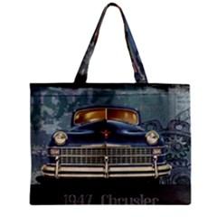 Vintage Car Automobile Zipper Mini Tote Bag by Nexatart