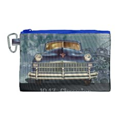 Vintage Car Automobile Canvas Cosmetic Bag (large)