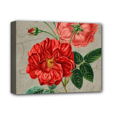 Flower Floral Background Red Rose Deluxe Canvas 14  X 11
