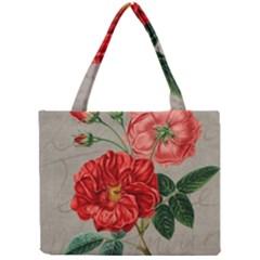 Flower Floral Background Red Rose Mini Tote Bag