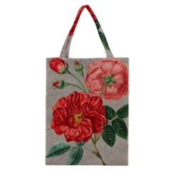 Flower Floral Background Red Rose Classic Tote Bag