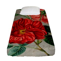 Flower Floral Background Red Rose Fitted Sheet (single Size)