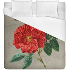 Flower Floral Background Red Rose Duvet Cover (king Size)