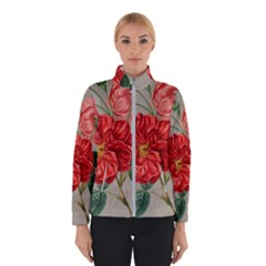 Flower Floral Background Red Rose Winterwear