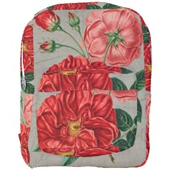 Flower Floral Background Red Rose Full Print Backpack by Nexatart