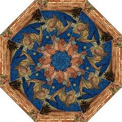 Bats Cubism Mosaic Vintage Folding Umbrellas
