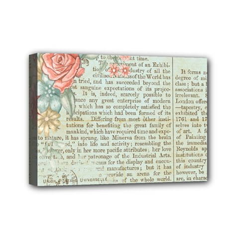 Vintage Floral Background Paper Mini Canvas 7  X 5