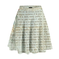 Vintage Floral Background Paper High Waist Skirt