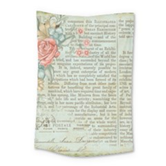 Vintage Floral Background Paper Small Tapestry