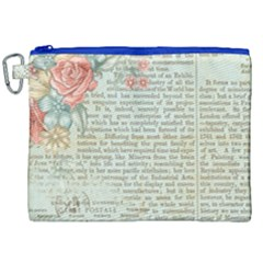 Vintage Floral Background Paper Canvas Cosmetic Bag (xxl) by Nexatart