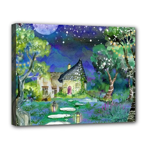 Background Fairy Tale Watercolor Canvas 14  X 11