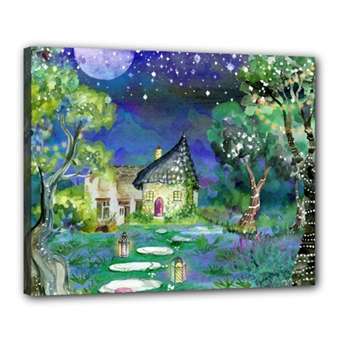 Background Fairy Tale Watercolor Canvas 20  X 16