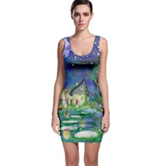 Background Fairy Tale Watercolor Bodycon Dress