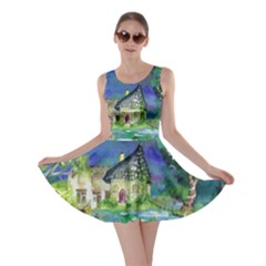 Background Fairy Tale Watercolor Skater Dress