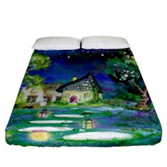 Background Fairy Tale Watercolor Fitted Sheet (california King Size) by Nexatart