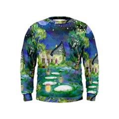Background Fairy Tale Watercolor Kids  Sweatshirt