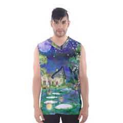 Background Fairy Tale Watercolor Men s Basketball Tank Top