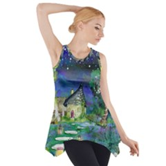 Background Fairy Tale Watercolor Side Drop Tank Tunic