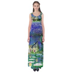 Background Fairy Tale Watercolor Empire Waist Maxi Dress