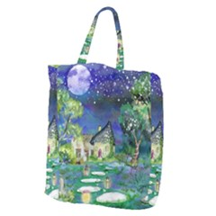Background Fairy Tale Watercolor Giant Grocery Zipper Tote