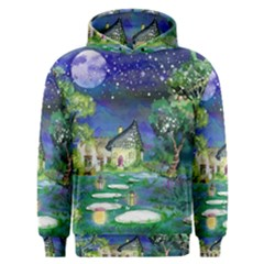 Background Fairy Tale Watercolor Men s Overhead Hoodie
