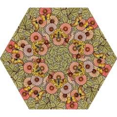 Flower Butterfly Cubism Mosaic Mini Folding Umbrellas