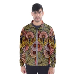 Flower Butterfly Cubism Mosaic Wind Breaker (men)