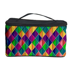 Background Geometric Triangle Cosmetic Storage Case