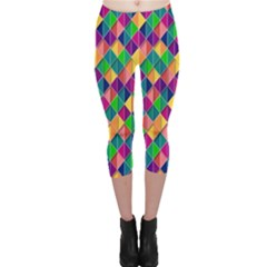 Background Geometric Triangle Capri Leggings