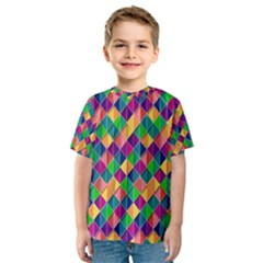 Background Geometric Triangle Kids  Sport Mesh Tee