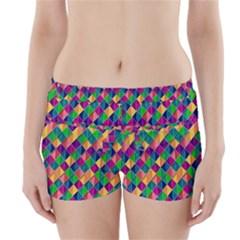 Background Geometric Triangle Boyleg Bikini Wrap Bottoms