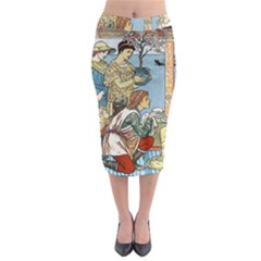 Vintage Princess Prince Old Midi Pencil Skirt